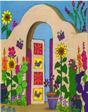 Into The Garden Southwest Note card by Gale Tuoti